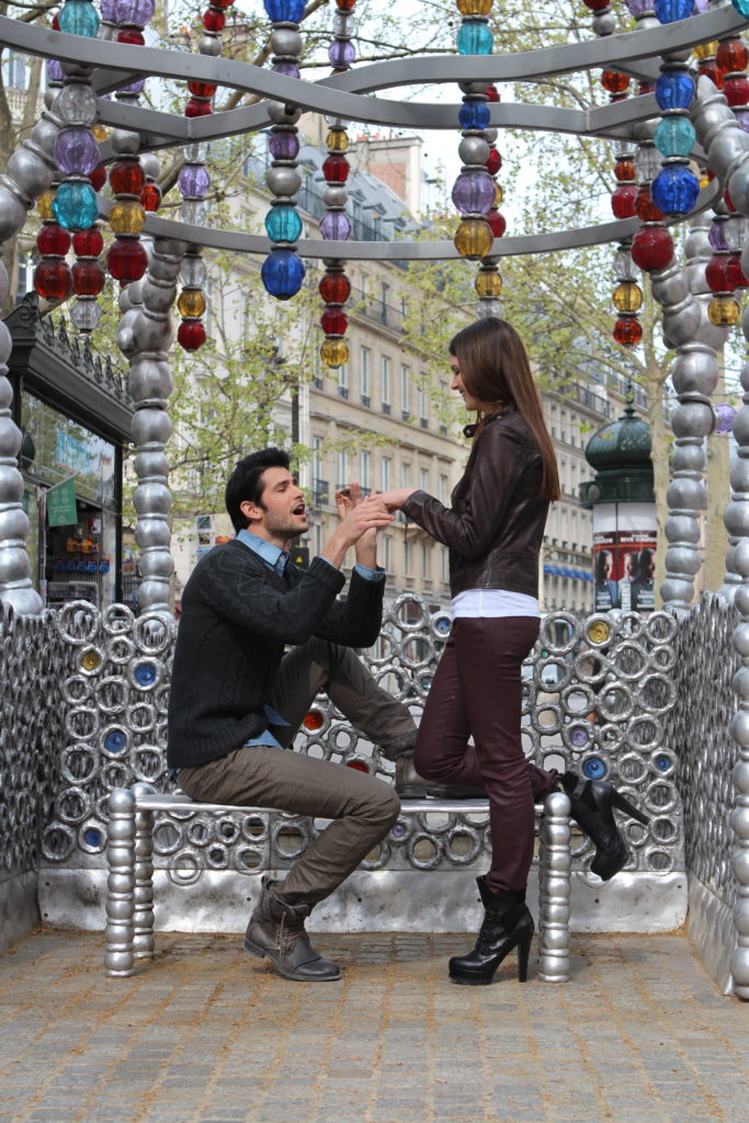 Banc pour déclaration d'amour à Paris (Photo Didier Messina)
